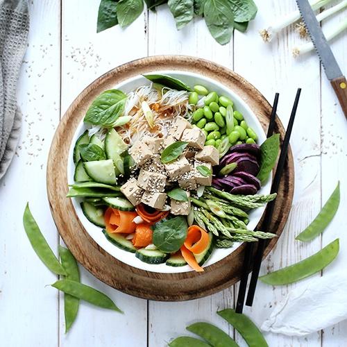 Vegan Poke Bowl with Marinated Tofu • Green Evi